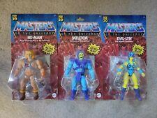 3 MASTERS OF THE UNIVERSE ORIGINS HE-MAN EVIL-LYN SKELETOR 2020 MATTEL MOTU