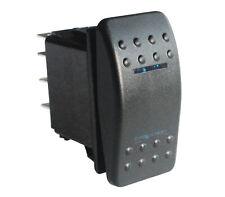 (On)-off-(on) Momentary Blue LED DPDT/7pins Switch 12v/24v Marine Boat Car