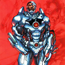JIM LEE Cyborg ART PRINT New 52 JUSTICE LEAGUE Alex Sinclair SDCC 2012 Signed