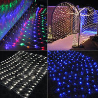 3x2M 6x4M LED Fairy String Net Light Christmas Xmas Tree Garden Party In/Outdoor