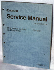Canon Lens Service Manual EF 20-35mm 1:3.5-4.5 C21-9731 (1993) Ultrasonic OEM