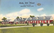 Aberdeen Maryland Holly Hill Motel Antique Postcard (J37593)