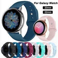 Für Samsung Galaxy Watch 42/46mm Active 2 44mm Silikon Ersatz Band Sport Armband