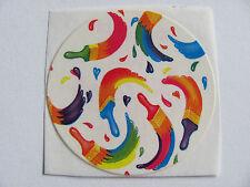 Vintage Lisa Frank Rainbow Paint Brushes Sticker