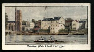 Tobacco Card, Mitchell, OLD SPORTING PRINTS,1930,Boating Pair Oar'd Outrigger,#2