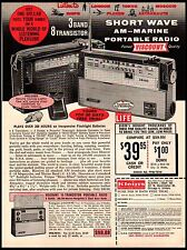 1963 Viscount AM Marine Short Wave Transistor Portable Radio Vintage Print Ad