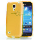 Custodia Perfect Fit trasparente arancione pr Samsung Galaxy S4 mini i9195 cover