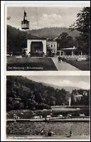BAD HARZBURG Niedersachsen AK um 1945 Mehrbild-AK Schwimmbad und Schwebebahn