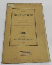 TRES RARE : ETUDES TERATOLOGIQUES - SUR LA POLYDACTYLIE PAR E. DELPLANQUE - 1869