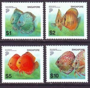 Singapore 2002 SC 1018-1021 MNH Set Discus Fish