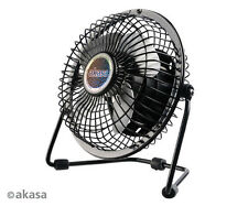 Akasa Mini Desktop Fan, PC USB Powered, Adjustable Stand, Rubber Feet, 4 Blades