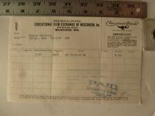 Movie Billhead Educational Exch 8/12/1923 Oh Promise Me Neal Burns Josephine Hil