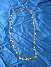 Coldwater Creek Gold-colored Seed Bead and Gold Chip Long Necklace