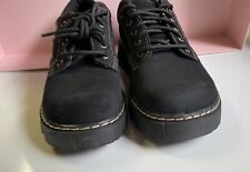 New Skechers Womens Parties-Mate Black Leather Suede Oxford Shoes Size 10