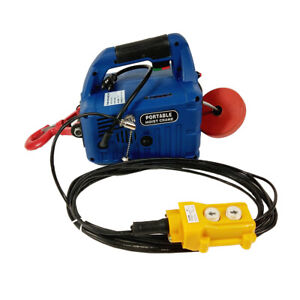 450KG Wire-Controlled Electric Hoist Portable Household Winch 7.6M 110V