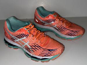 ASICS Gel Nimbus 17 Running Shoes Flash Coral T557N Women's Size 7