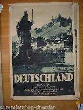 26858 RDV Plakat Würzburg Deutschland Bayern Gundermann Reichsbahn