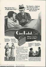 1934 KODAK advertisement, Cine-Kodak Eight movie camera, rumble seat