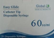 50-60cc 2oz CATHETER TIP Easy Glide SYRINGES 60mL NEW!! SYRINGE ONLY NO NEEDLE