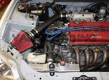 "3"" Black Intake Kit w/ Blox Racing 3"" Air Filter Kit Velocity Stack Honda Acura"