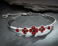 Poppy Bangle Jewellery Striking Glamorous Glittering Bracelet Fashionable