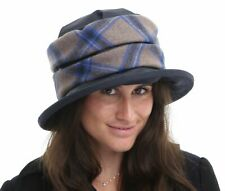 44bed8d6c84 Ladies Waxed Cotton Waterproof Winter Wax Cloche Hat With Tweed Band