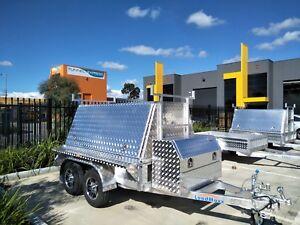 Aluminium dual axle builders trailer 8x5