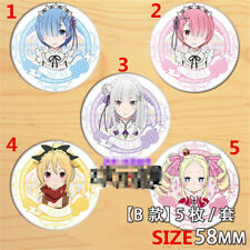 T1167 Anime Re Zero Kara Hajimeru Isekai Seikatsu badge Pin Decorate A