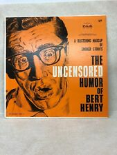 THE UNCENSORED HUMOR OF BERT HENRY FAX RECORDS FAXLP 3001 12""