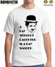 R 0277 CHARLIE CHAPLIN T-shirt Tee Camiseta Top Quality Funny Smile Cinema Man