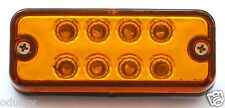 30 pcs 24V 8 LED Side Marker Orange Amber Lights for Truck Mercedes Renault Ford