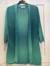 Womens per una Ombre blue-turquoise knee-length cardigan. Size12