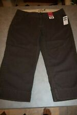 Old Navy,size 10,NWT,brown,cotton, ultra low,capri pants