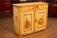 Credenza 2 ante in legno laccato mobile stile antico vintage antiquariato 900