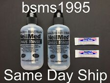 LOT OF 2 NEW NEILMED SINUS RINSE BOTTLES EMPTY 8 OZ OUNCES & 2 PACKETS EXP 3/23