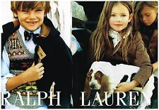 Publicité Advertising 2007 (2 pages) Les vetements pour enfants ralph lauren