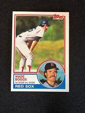 1983 Topps Wade Boggs Rookie RC #498 NM-MINT HOF Boston Red Sox *68