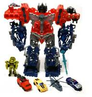"""TRANSFORMERS Cyberverse 12"""" OPTIMUS PRIME toy Open Up Playset  plus Figures"""
