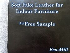 "Vinyl Material Upholstery Ram Chestnut soft Faux Leather by the yard 54"" wide"