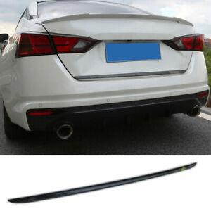 1X Carbon Fiber Tail Door Trunk Lid Strip Trim Fit For Nissan Altima 2019-2021