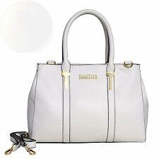 Kenneth Cole Reaction Kn1860 Triple Entry Harriet Satchel Handbag Chalk New