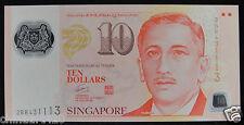 Singapore Polymer Plastic 10 Dollars Sport UNC, Signature Goh Chok Tong