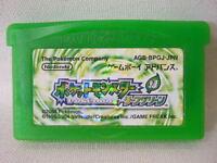 Game Boy Advance Nintendo POKEMON LEAF GREEN leafgreen cart gbac