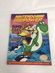 ORIGINAL SEP 1991 VOLUME 28 NINTENDO POWER MAGAZINE SUPER MARIO With POSTER