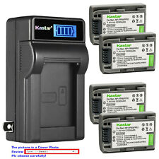 Kastar Battery LCD Wall Charger for Sony NP-FP50 NP-FP51 Sony DCR-DVD304 DVD304