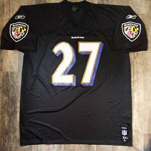 Ray Rice Jesey Reebok NFL Mens Size 2XL Team Apparel Mesh Style Baltimore Ravens