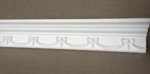 10m Decken Leisten 5x 2m E29 Eck Leiste 50x90 mm 3D Optik Zier Profil Styropor