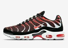 Nike Air Max Plus Men's Sportswear Shoes 852630 034 Black Crimson Wolf Grey New