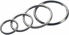 4 Pack Hillman Tempered Steel Assorted Split Rings/Cable Rings Key Ring Keychain