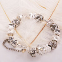 Jewelry European Style Charm Crystal Bead bracelet bangle Bracelet Fashion w/